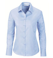 Ladies Dobby Oxford Trim Dress Shirt