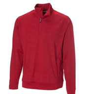 Custom Mens Embossed Quarter Zip