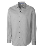 Big and Tall Easy Care Mini Herringbone Dress Shirt