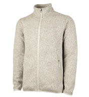 Mens Heathered Fleece Sweater Jacket by Charles River Apparel