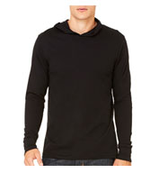 Custom Mens Thermal Long Sleeve Henley Hoodie
