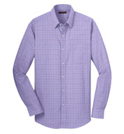 Mens Windowpane Dress Shirt