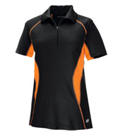 Custom Ladies Serac Performance Zippered Polo