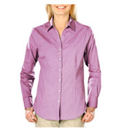 Ladies Heathered Crossweave Dress Shirt