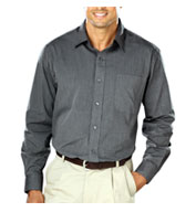 Custom Mens Heathered Crossweave Dress Shirt Mens
