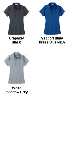 Ladies Fine Stripe Performance Polo - All Colors