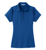 Ladies Fine Stripe Performance Polo