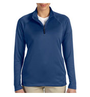 Custom Ladies Stretch Quarter-Zip Tech-Shell�