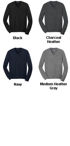 Mens V-Neck Fine Gauge Sweater - All Colors