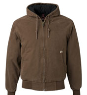 Custom Mens Tall Dri Duck Canvas Hooded Jacket Mens