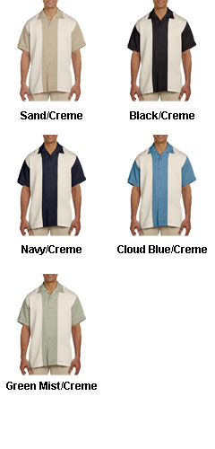 Mens Two-Tone Bahama Camp Shirt - All Colors