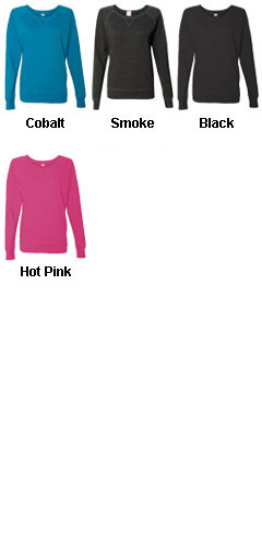 Ladies French Terry Slouchy Pullover  - All Colors
