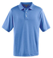 Custom Mens Pima-Tech� Pique Heathered Polo Mens