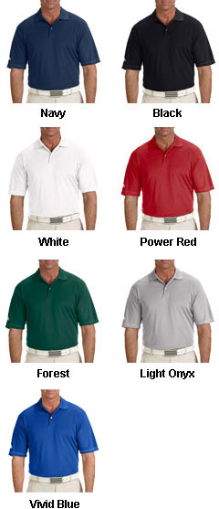 Adidas Golf Mens ClimaLite® Contrast Stitch Polo - All Colors