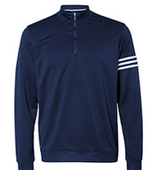Custom Adidas Golf Mens ClimaLite® 3-Stripes Pullover