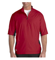 Custom Adidas Golf Mens ClimaLite® Colorblock Half-Zip Wind Shirt