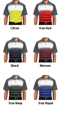 Sublimated Stripe Polo - All Colors