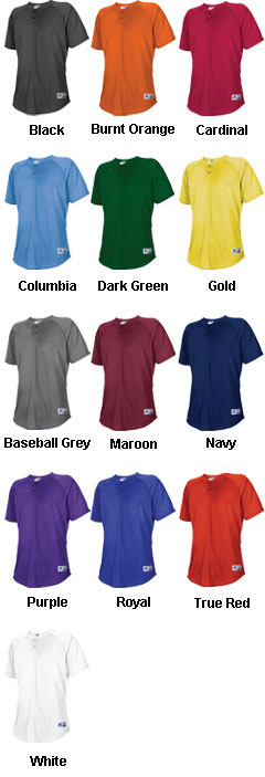Russell Athletic Adult Two Button Placket - All Colors
