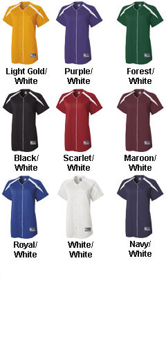 Holloway Ladies Blaze Faux Full Button Jersey - All Colors