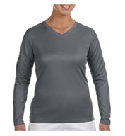 New Balance Ladies Ndurance® Athletic Long-Sleeve V-Neck T-shirt