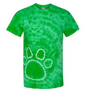 Custom Tie-Dye Pawprint T-Shirt