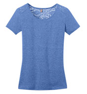 Ladies Tri-Blend Lace Back Tee