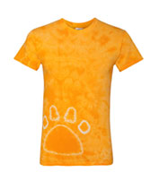 Custom Gildan Youth Tie-Dye Pawprint T-Shirt