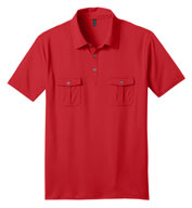 Mens Jersey Double Pocket Polo