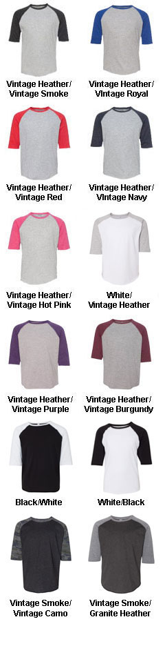 Youth Vintage Fine Jersey Baseball T-Shirt - All Colors