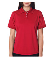 UltraClub Ladies Platinum Performance Pique Polo