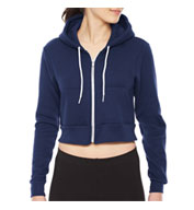 American Apparel Cropped Fleece Zip Hoodie
