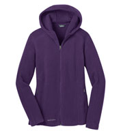 Custom Eddie Bauer® Ladies Hooded Full-Zip Fleece Jacket