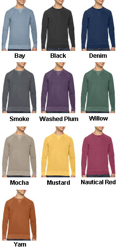 Authentic Pigment Mens French Terry Crew - All Colors