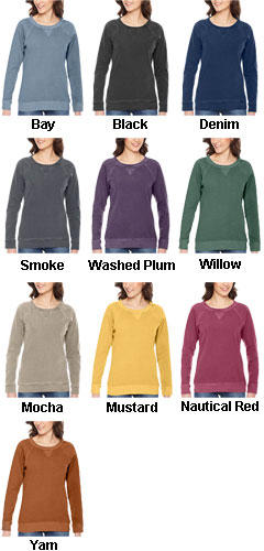 Authentic Pigment Ladies French Terry Crew - All Colors