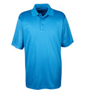 Custom UltraClub Mens Cool and Dry Mini-Check Jacquard Polo