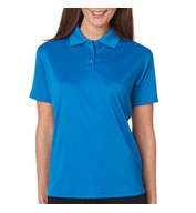 Custom Ladies Cool and Dry Mini Check Jacquard Polo