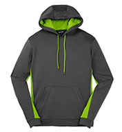 Custom Mens Fleece Colorblock Hooded Pullover