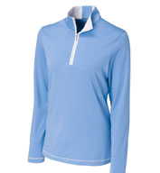 Custom Ladies CB DryTec� Choice Zip Mock