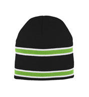 Striped Knit Beanie in Team Colors