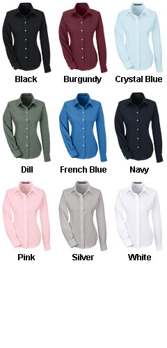 Ladies Performance Solid Broadcloth Dress Shirt - All Colors