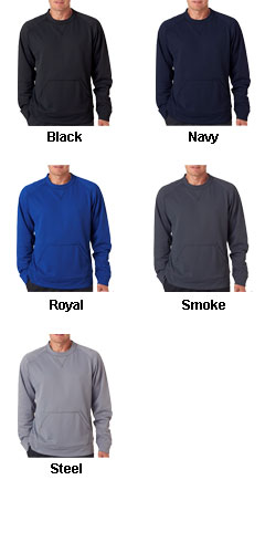 UltraClub Cool and Dry Sport Crew Neck Fleece - All Colors