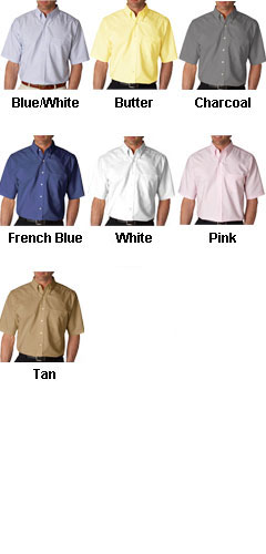 UltraClub Short Sleeve Oxford Dress Shirt - All Colors