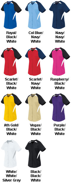 Womens Galaxy Full Button Jersey - All Colors