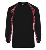 Custom Adult Digital Hook Long Sleeve Tee Mens