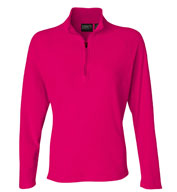 Custom Dri Duck Fusion Ladies Quarter-Zip Nano Fleece Pullover