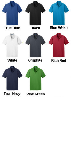 Mens Diamond Jacquard Polo - All Colors