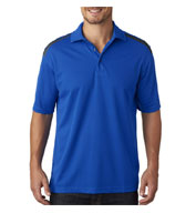 Custom UltraClub Mens Cool & Dry 2 Tone Mesh Pique Polo