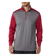 Custom UltraClub Cool & Dry Sport 2 - Tone Quarter Zip Pullover