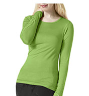 Custom WonderWink® Silky Long Sleeve Base Layer Tee