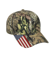Camo Cap with Flag Accent